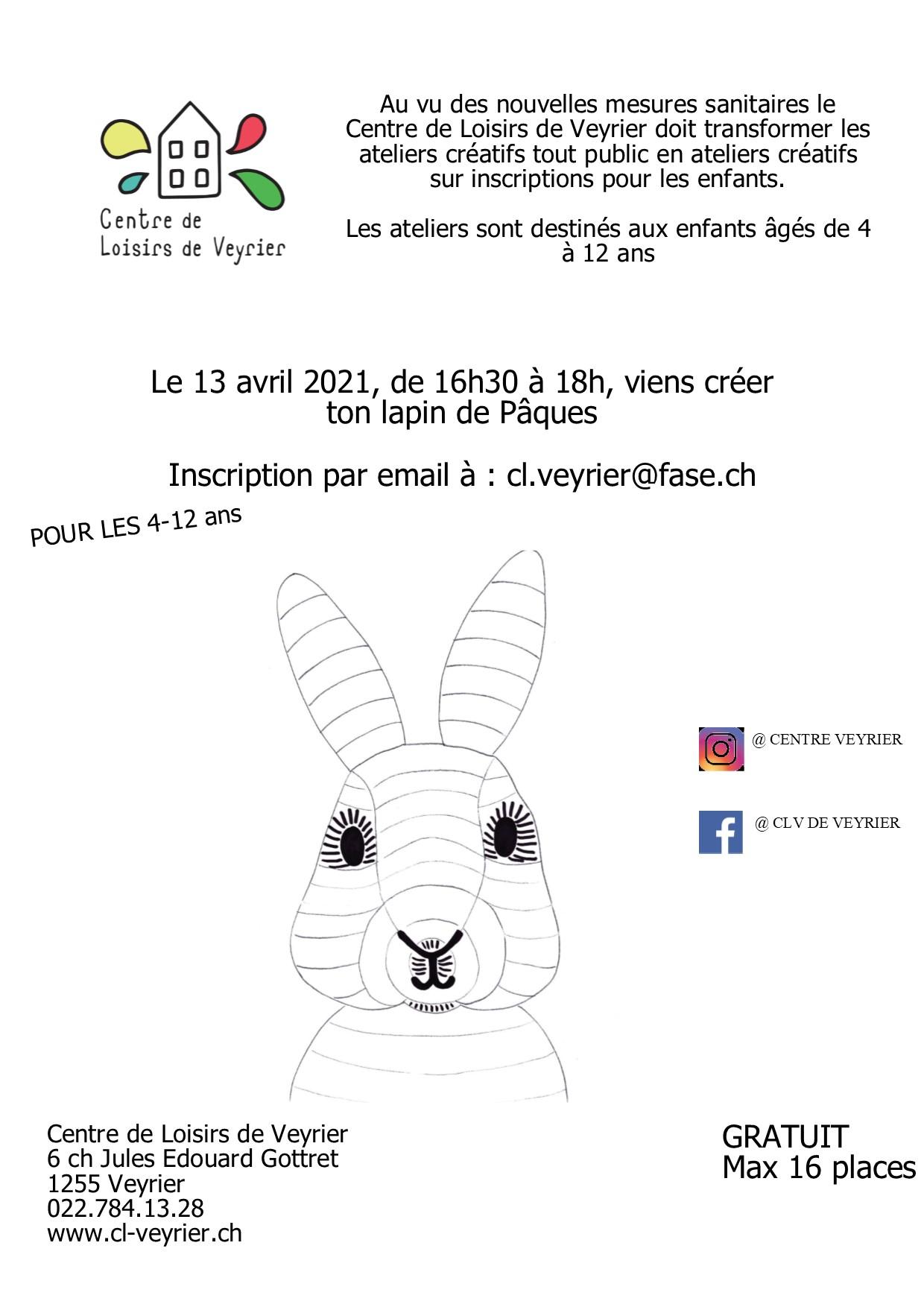 Pub At créatif lapin de Pâques